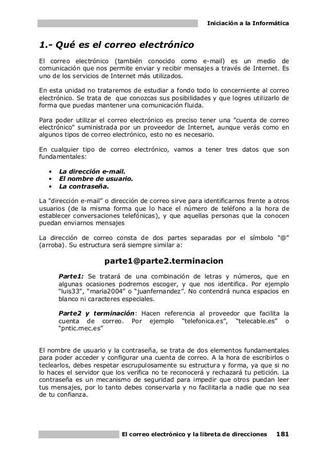 09. Iniciacion A La Informatica. El Correo ElectróNico Y La Libreta De Direcciones Slide 3