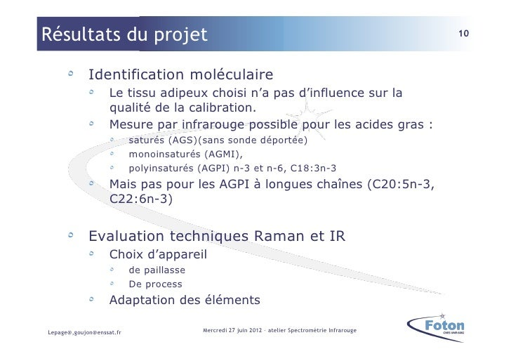 Résultats du projet                                                                                  10      ٥ Identifica...