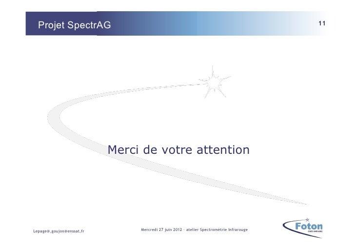 Projet SpectrAG                                                                          11                           Merc...