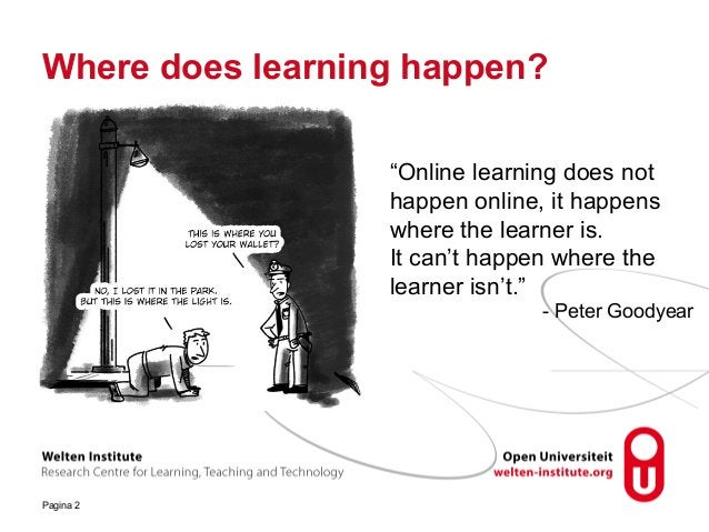 """Pagina 2 Where does learning happen? """"Online learning does not happen online, it happens where the learner is. It can't ha..."""