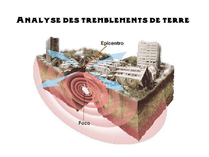 Analyse des tremblements de terre