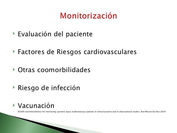    Frecuencia de evaluación   Evaluación de laboratorios de rutina   Evaluacion de otros laboratorios   Lesiones mucot...