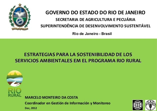 GOVERNO DO ESTADO DO RIO DE JANEIRO                      SECRETARIA DE AGRICULTURA E PECUÁRIA               SUPERINTENDÊNC...