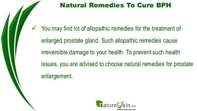 Best Natural Remedies For Prostate Enlargement