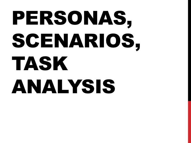 PERSONAS,SCENARIOS,TASKANALYSIS