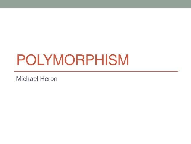 POLYMORPHISM Michael Heron