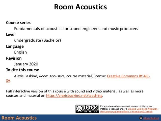Room Acoustics Slide 2