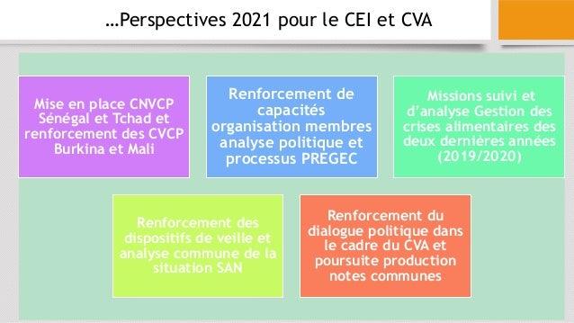 Mise en place CNVCP Sénégal et Tchad et renforcement des CVCP Burkina et Mali Renforcement de capacités organisation membr...