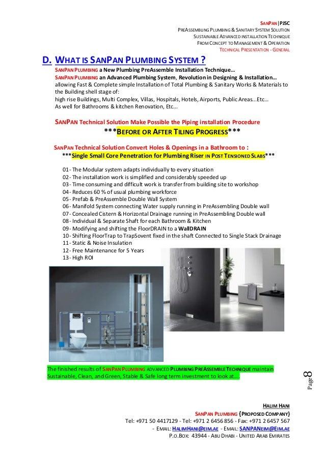 Halim Hani - HH-SP-T001-SanPan Plumbing Total Solution Technical