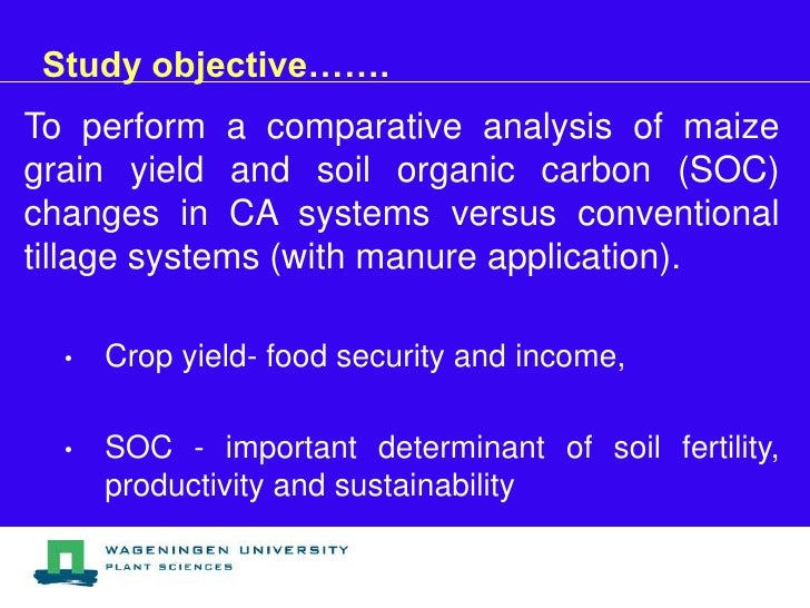 Effects of ca and manure application on maize grain yield for Soil organic carbon