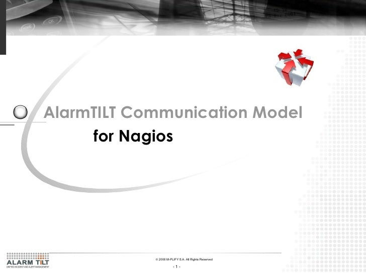 AlarmTILT Communication Model   for Nagios