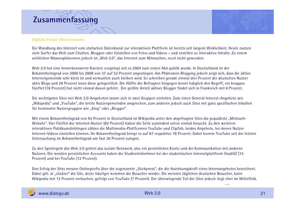 Zusammenfassung  Digitale Poesie-Alben boomen Die Wandlung des Internet vom statischen Datenkanal zur interaktiven Plattfo...