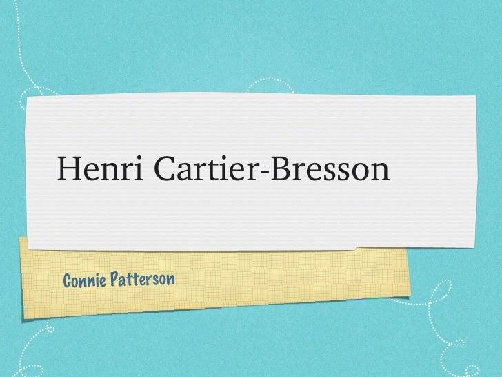 Henri Cartier-Bresson Connie Patterson