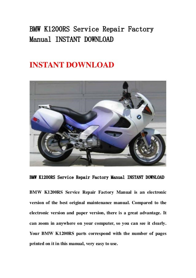 Bmw r1150gs service repair factory manual instant.