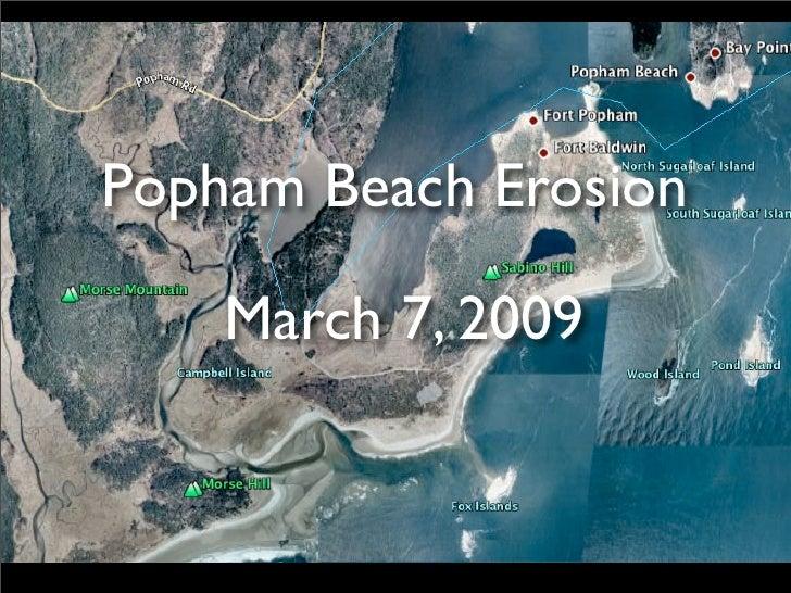 Popham Beach Erosion      March 7, 2009