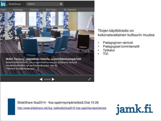 http://www.slideshare.net/iloa_kaikkialla/iloa2014-iloa-oppimisymparistoista SlideShare Iloa2014 - Iloa oppimisympäristöis...