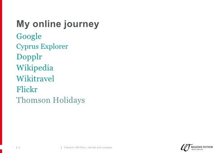 My online journey <ul><li>Google </li></ul><ul><li>Cyprus Explorer </li></ul><ul><li>Dopplr </li></ul><ul><li>Wikipedia </...