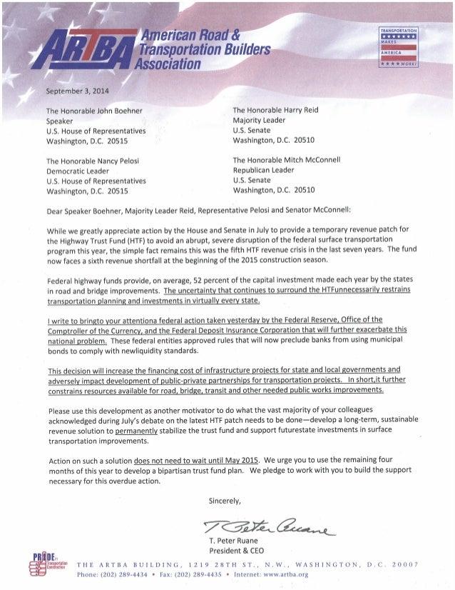 TRANSPORTATION i i i i' i i i' MAKE 5  AMEIHCA  - a  Îe tember 3, 20W  The Honorable John Boehner The Honorable Harry Reid...