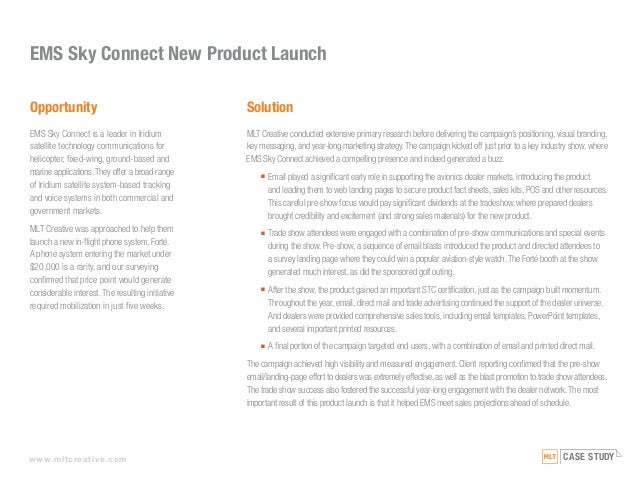 case study of launching a new product Incontext uncovered the risks and barriers to success associated with a new cough drop product launch that was being considered by smith brothers.