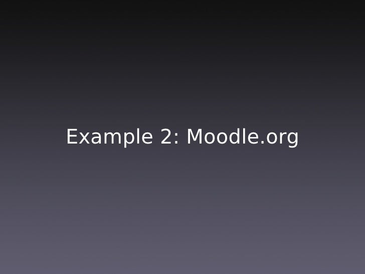 7. Moodle's Transparency