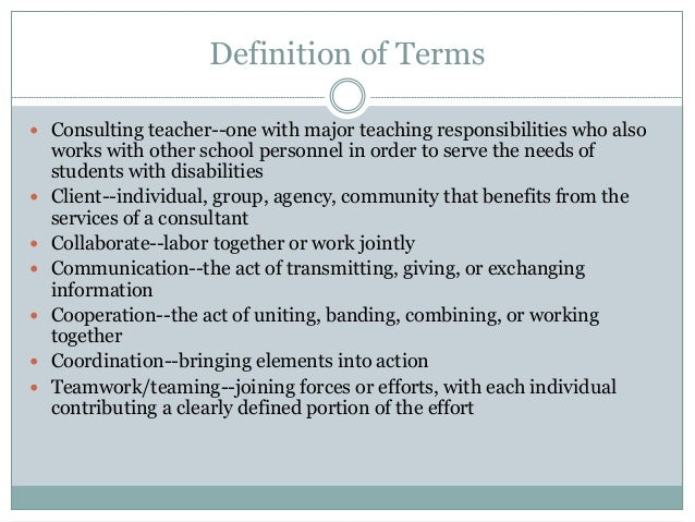 Collaborative Teaching Definition ~ Fundamentals of collaboration ppt