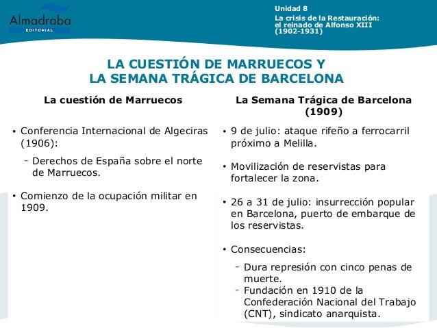 Tema8 alfonso xiii for Trabajo de interna en barcelona