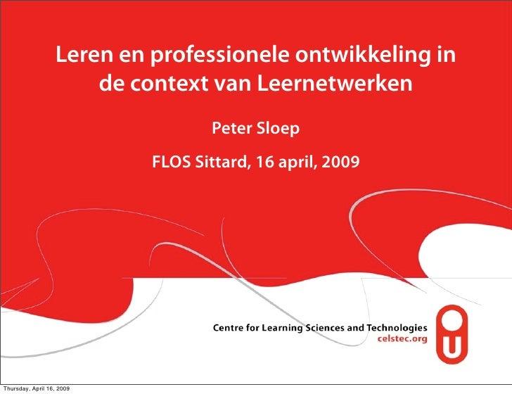 Leren en professionele ontwikkeling in                       de context van Leernetwerken                                 ...