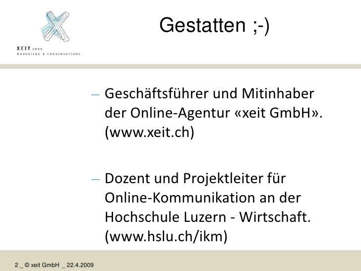 How to: Auf und mit Social Networks kommunizieren (BPRG) Slide 2