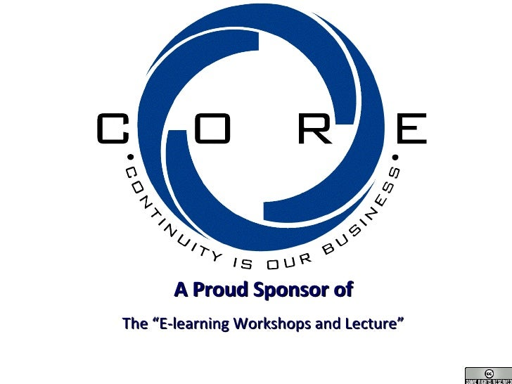 """A Proud Sponsor of The """"E-learning Workshops and Lecture"""""""