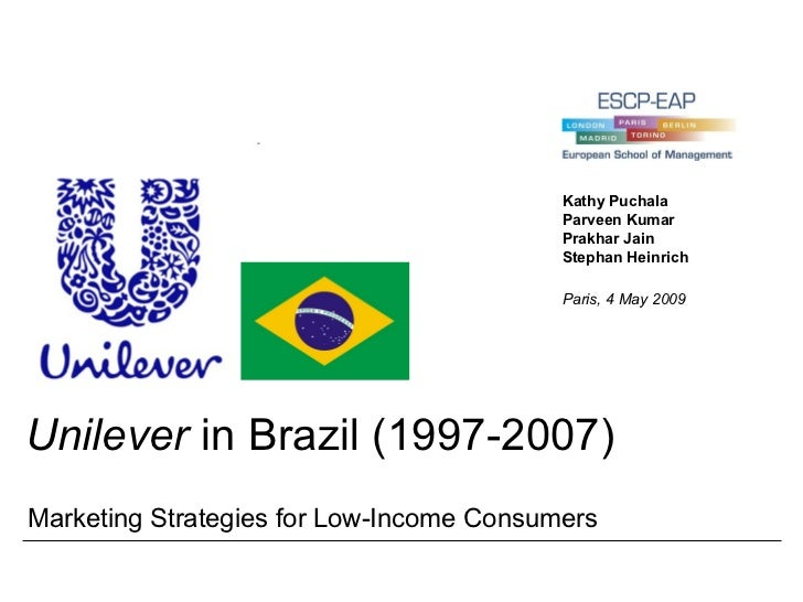 unilever in brazil case study swot Unilever in brazil international marketing case - unilever in brazil1 a case  of marketing strategies for low- income consumers group no:.