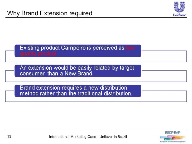 unilever brazil case Free essay: unilever brazil: case write-up on marketing strategies for low-income consumers questions 1should unilever target the ne segment is the segment.