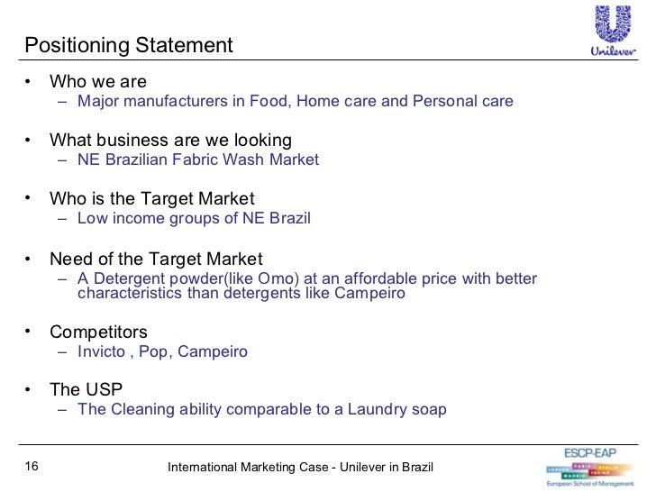Unilever in brazil case solution