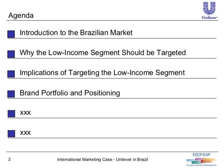 unilever in brazil case study swot