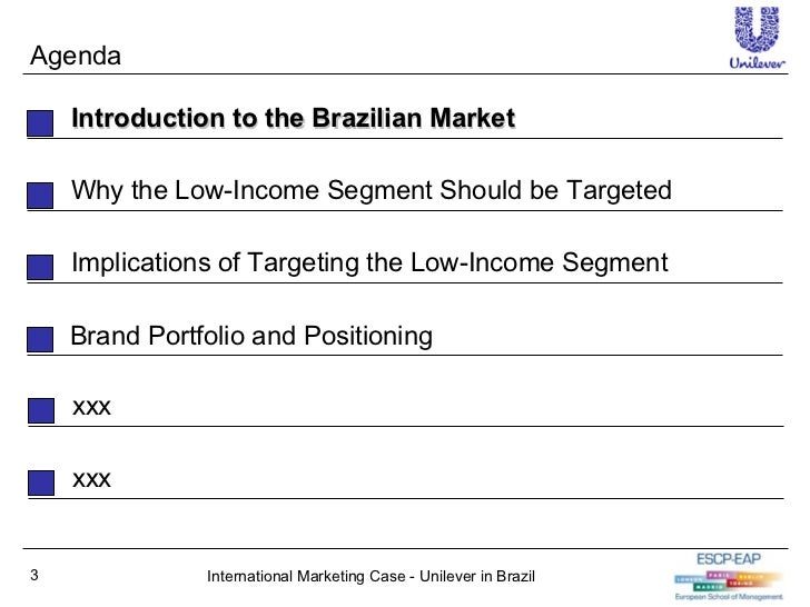 Unilever in Brazil Low Income