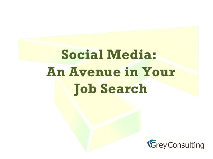 Social Media:  An Avenue in Your Job Search