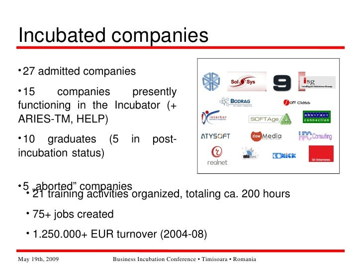 Timisoara Software Business Incubator - facts and figures