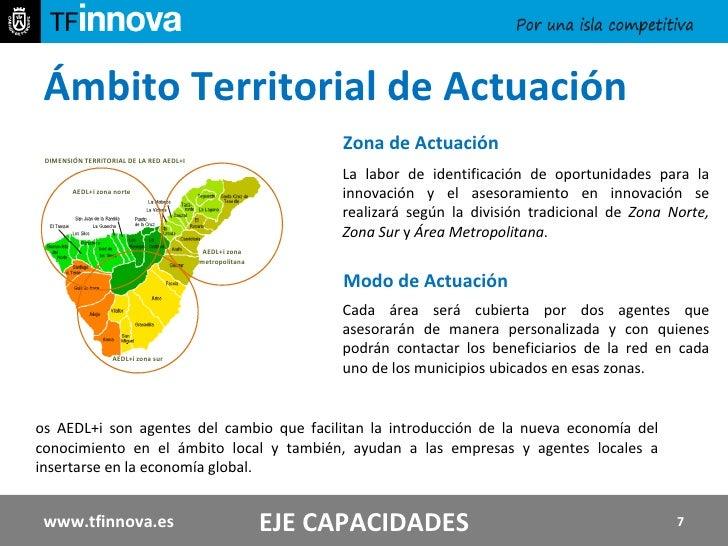 Ámbito Territorial de Actuación Los AEDL+i son agentes del cambio que facilitan la introducción de la nueva economía del c...