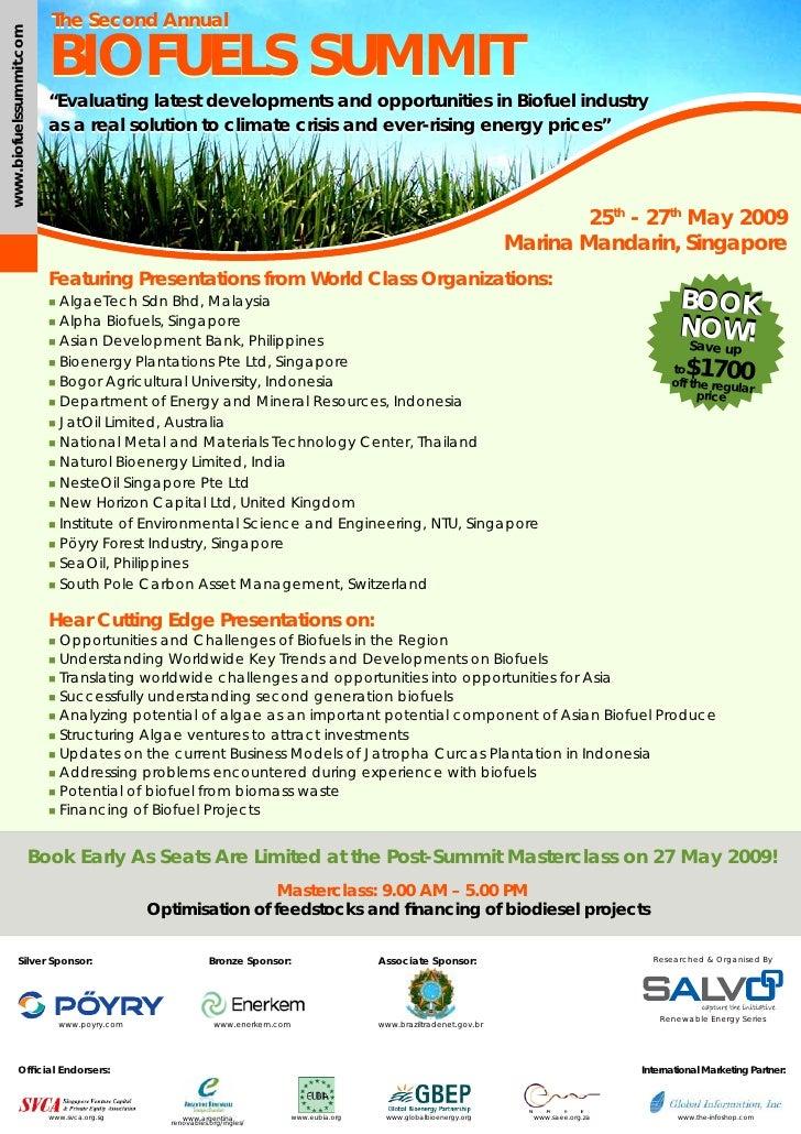 The Second Annual                             BIOFUELS SUMMIT www.biofuelssummit.com                                      ...