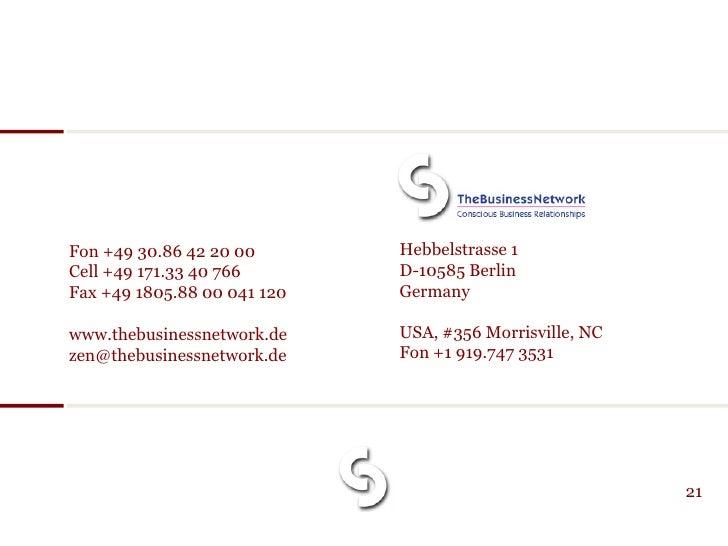 Fon +49 30.86 42 20 00       Hebbelstrasse 1 Cell +49 171.33 40 766       D-10585 Berlin Fax +49 1805.88 00 041 120   Germ...