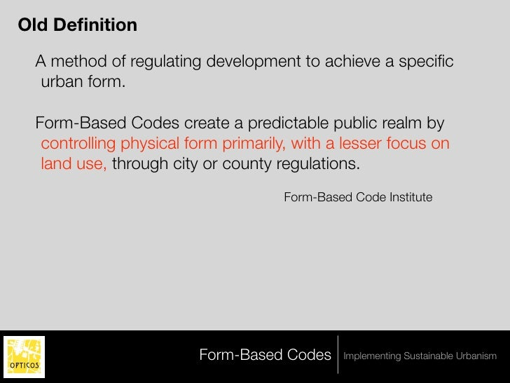 Achieving Sustainability Using Form-Based Codes and the Transect - Pa…