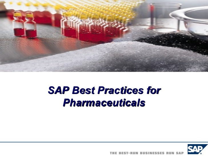 Sap Best Practices For Pharmaceuticals Building Blocks
