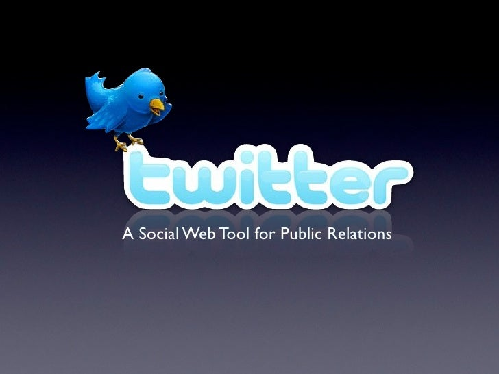 A Social Web Tool for Public Relations