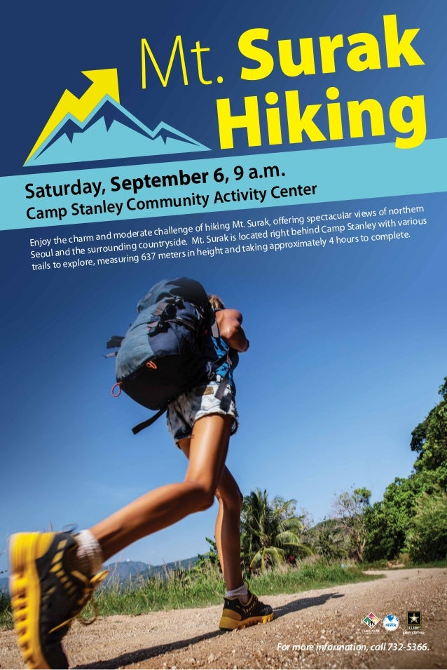 Camp Stanley Community Activity CenterSaturday, September 6, 9 a.m. Enjoy the charm and moderate challenge of hiking Mt. S...