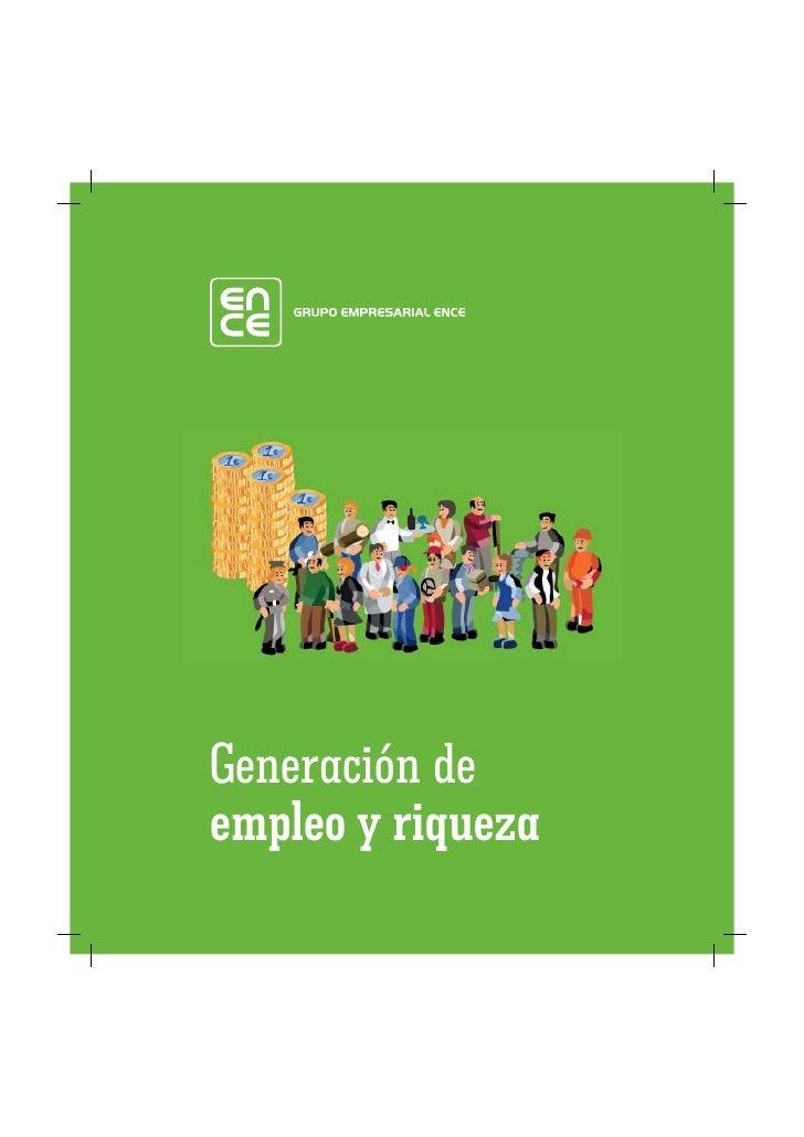 Generación de empleo y riqueza