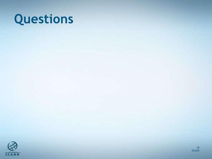 Questions 29Jul09