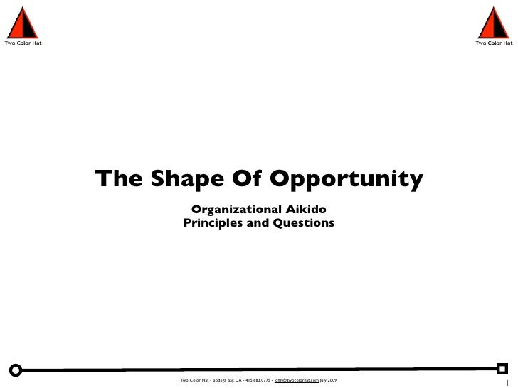 The Shape Of Opportunity         Organizational Aikido        Principles and Questions           Two Color Hat - Bodega Ba...