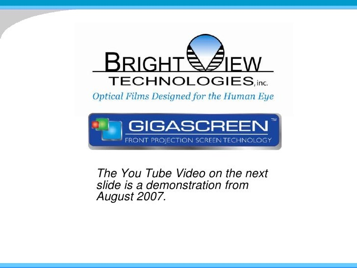 The You Tube Video on the next slide is a demonstration from August 2007.<br />