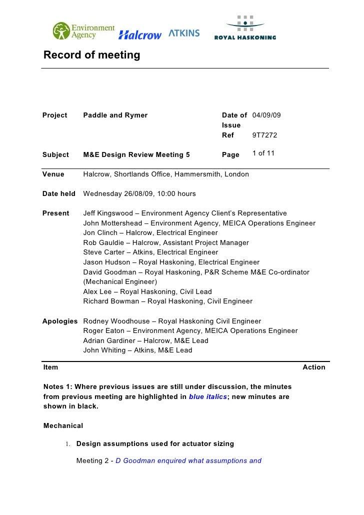 090826 Pr Me Design Review Meeting 5 Minutes