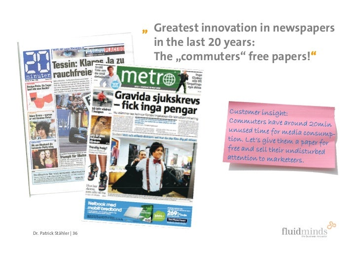 """ Greatest innovation in newspapers                              in the last 20 years:                              The ""c..."