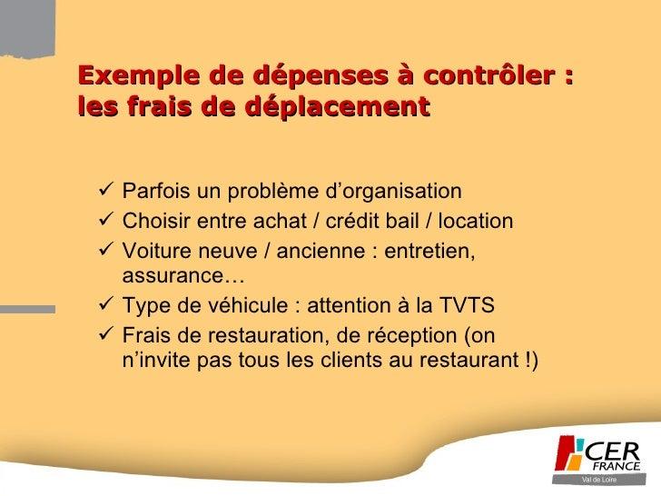 Exemple de dépenses à contrôler : les frais de déplacement <ul><li>Parfois un problème d'organisation </li></ul><ul><li>Ch...